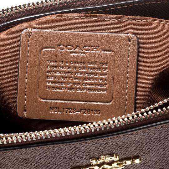 Coach Signature Canvas Leather Satchel in Brown Image 8