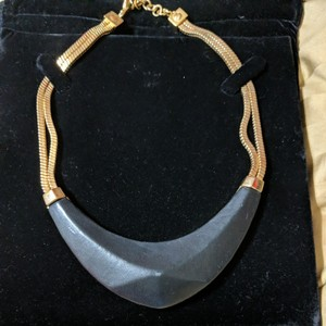 Vince Camuto Vince Camuto Leather and Gold Necklace