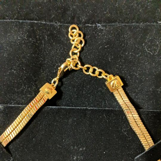 Vince Camuto Vince Camuto Leather and Gold Necklace Image 1