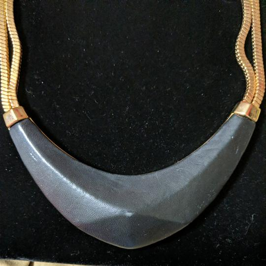 Vince Camuto Vince Camuto Leather and Gold Necklace Image 2