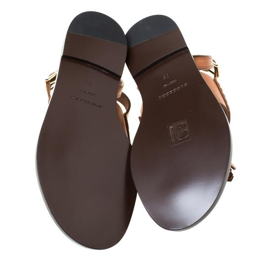 Burberry Leather Tassels Detail Brown Flats Image 6