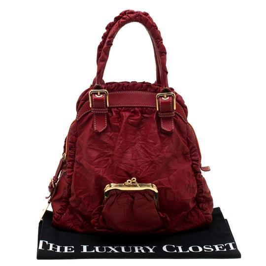Dolce&Gabbana Leather Satchel in Red Image 10