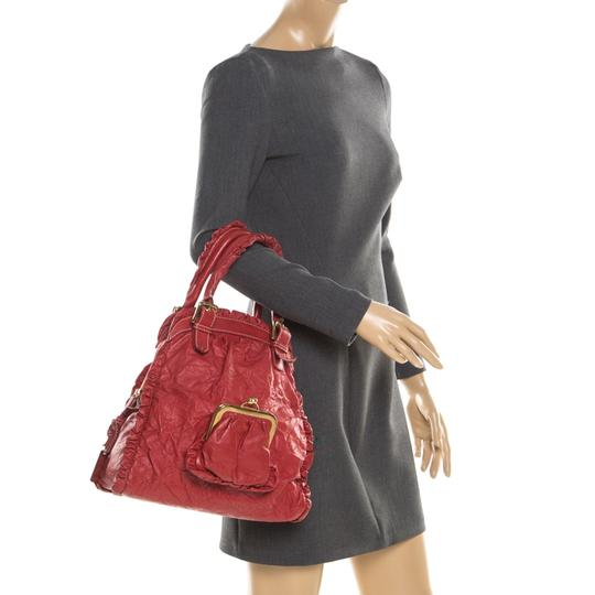 Dolce&Gabbana Leather Satchel in Red Image 2