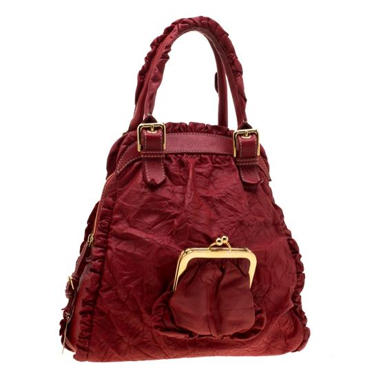 Dolce&Gabbana Leather Satchel in Red Image 3