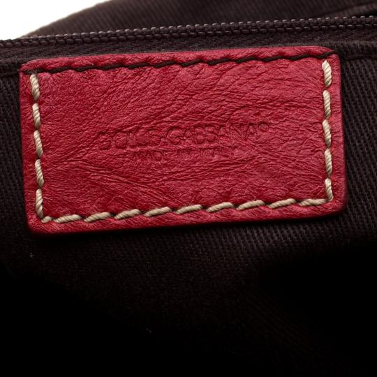 Dolce&Gabbana Leather Satchel in Red Image 7