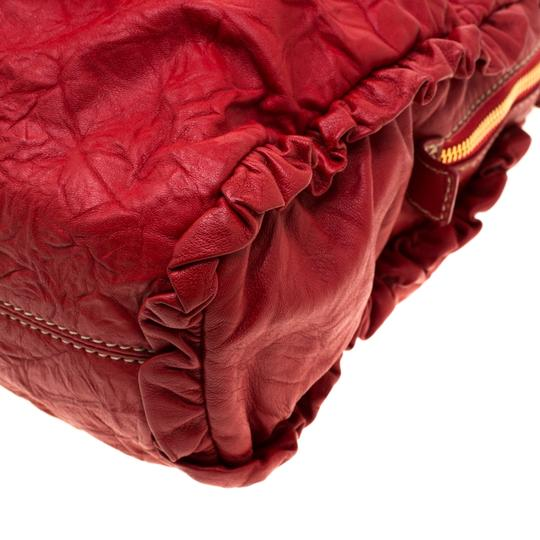 Dolce&Gabbana Leather Satchel in Red Image 8