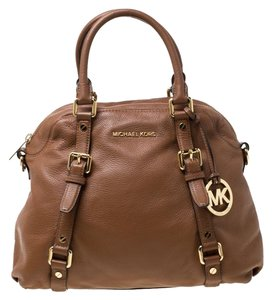 MICHAEL Michael Kors Leather Satchel in Tan