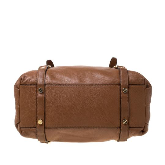 MICHAEL Michael Kors Leather Satchel in Tan Image 1