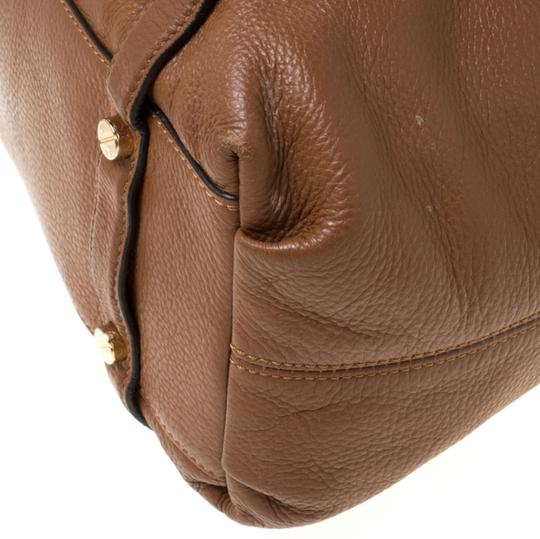 MICHAEL Michael Kors Leather Satchel in Tan Image 10