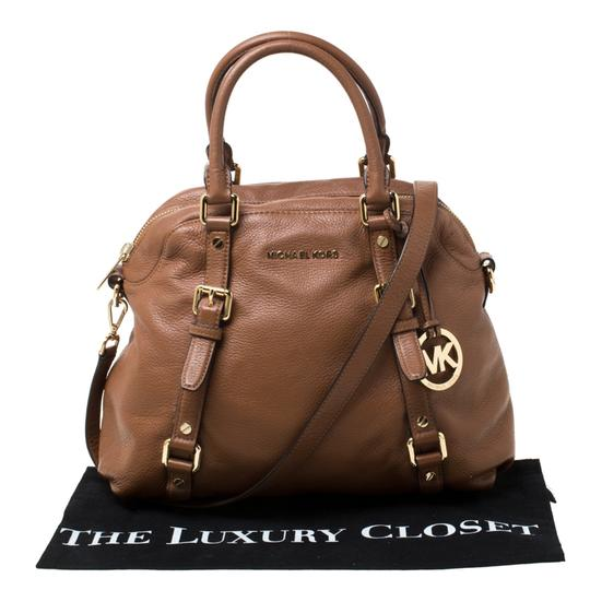 MICHAEL Michael Kors Leather Satchel in Tan Image 11