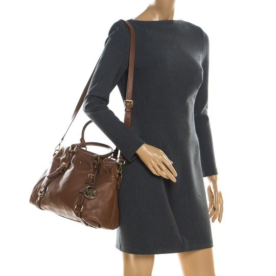 MICHAEL Michael Kors Leather Satchel in Tan Image 2
