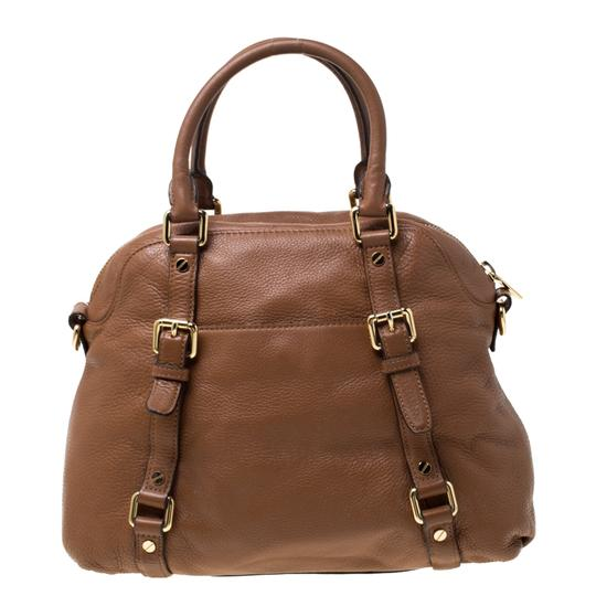 MICHAEL Michael Kors Leather Satchel in Tan Image 3
