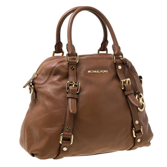 MICHAEL Michael Kors Leather Satchel in Tan Image 4