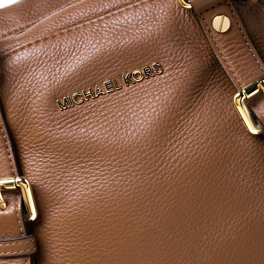 MICHAEL Michael Kors Leather Satchel in Tan Image 6