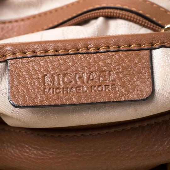 MICHAEL Michael Kors Leather Satchel in Tan Image 7