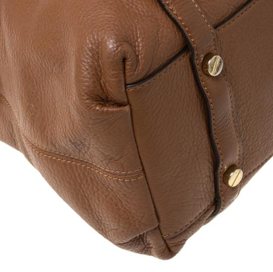MICHAEL Michael Kors Leather Satchel in Tan Image 9