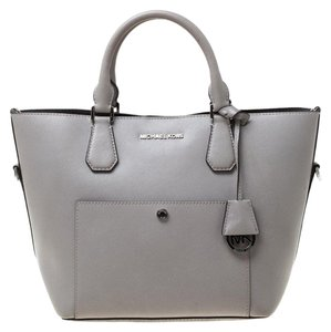 Michael Kors Leather Tote in Grey
