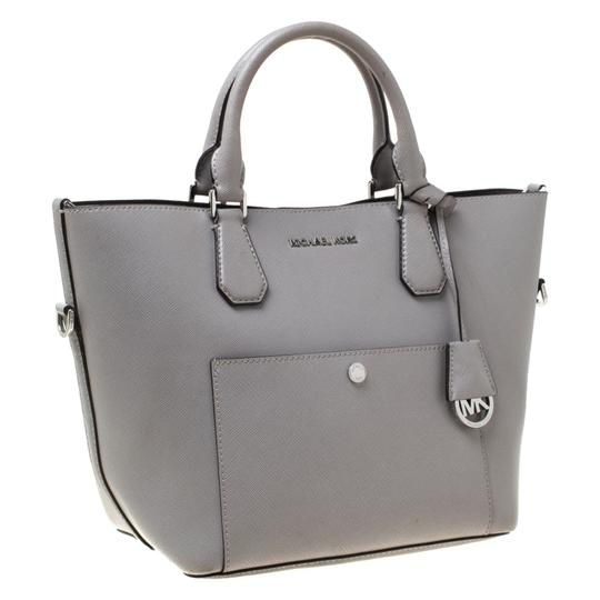 Michael Kors Leather Tote in Grey Image 10