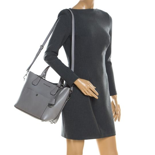 Michael Kors Leather Tote in Grey Image 2