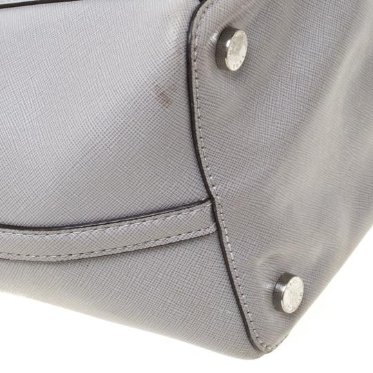 Michael Kors Leather Tote in Grey Image 5