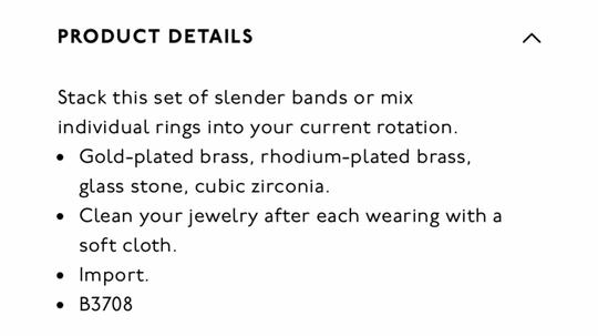 Madewell Filament Stacking Ring Set Image 1