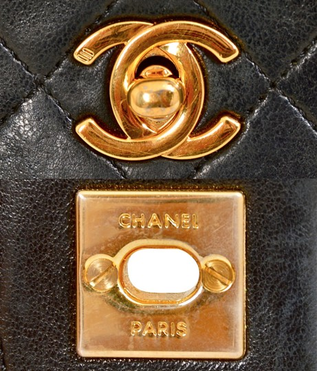 Chanel Quilted Lambskin Single Shoulder Bag Image 9