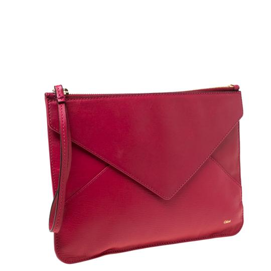 Chloé Leather Pink Clutch Image 4
