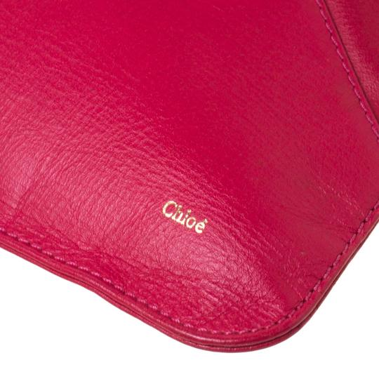 Chloé Leather Pink Clutch Image 7