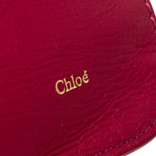 Chloé Leather Pink Clutch Image 8