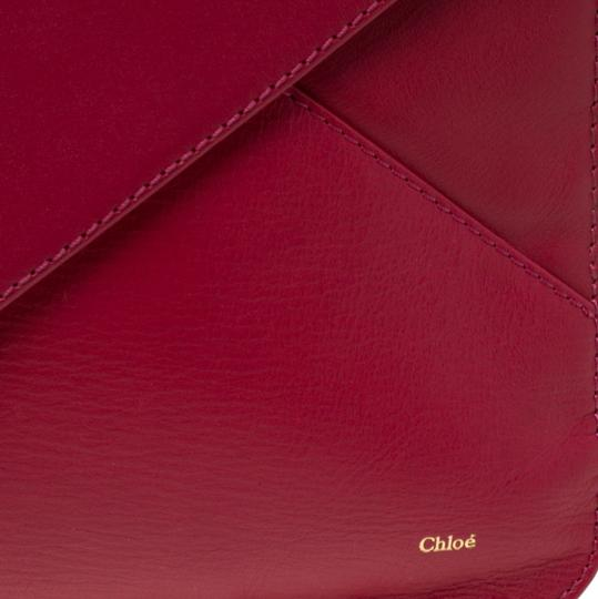 Chloé Leather Pink Clutch Image 9