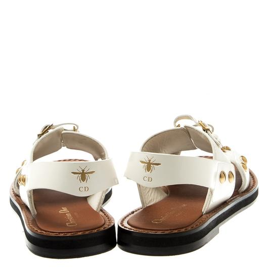 Dior Leather White Flats Image 4