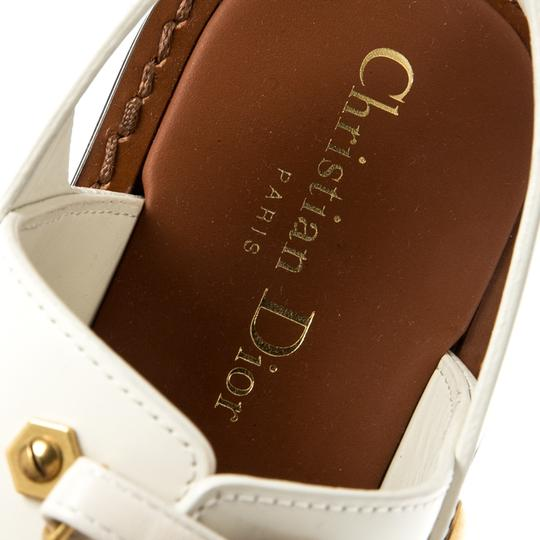 Dior Leather White Flats Image 6