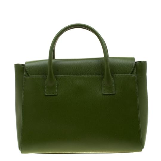 Furla Leather Green Clutch Image 1