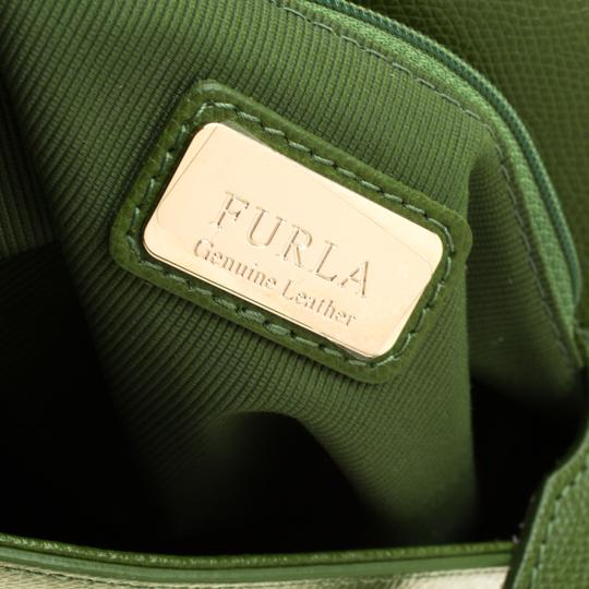 Furla Leather Green Clutch Image 10