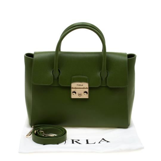 Furla Leather Green Clutch Image 11