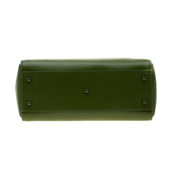 Furla Leather Green Clutch Image 3