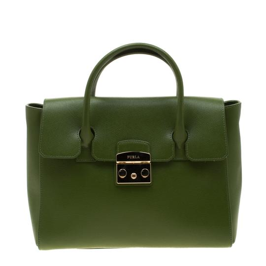 Furla Leather Green Clutch Image 6