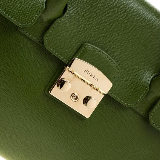 Furla Leather Green Clutch Image 7