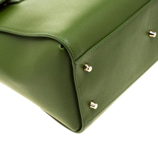 Furla Leather Green Clutch Image 9