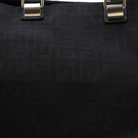 Givenchy Monogram Canvas Leather Satchel in Beige Image 7
