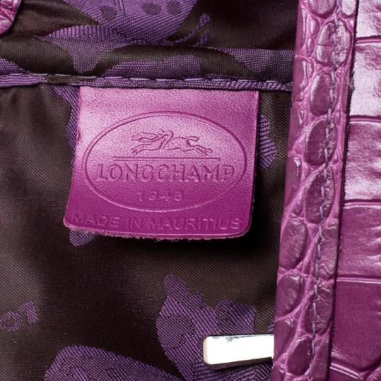 Longchamp Leather Tote in Purple Image 9