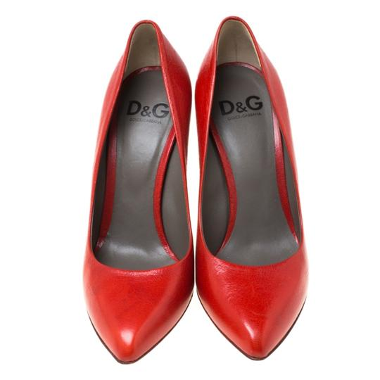 Dolce&Gabbana Leather Red Pumps Image 2