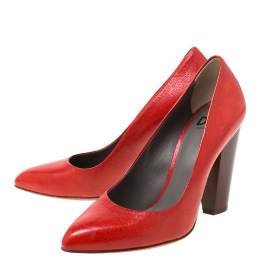 Dolce&Gabbana Leather Red Pumps Image 4