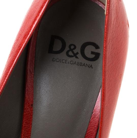 Dolce&Gabbana Leather Red Pumps Image 5