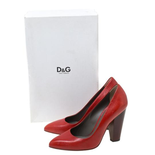 Dolce&Gabbana Leather Red Pumps Image 7