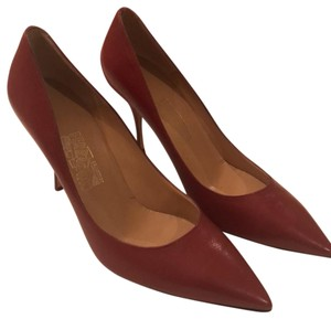 Salvatore Ferragamo Chili Red Pumps