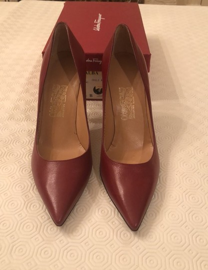 Salvatore Ferragamo Chili Red Pumps Image 1