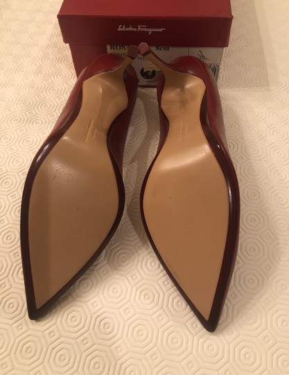 Salvatore Ferragamo Chili Red Pumps Image 4