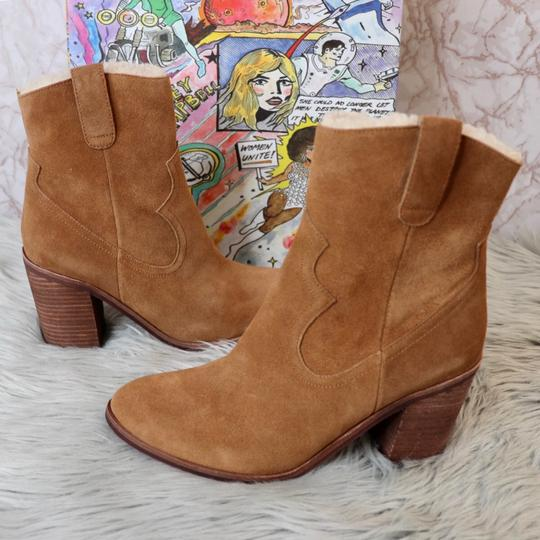 Jeffrey Campbell Tan Suede Boots Image 1