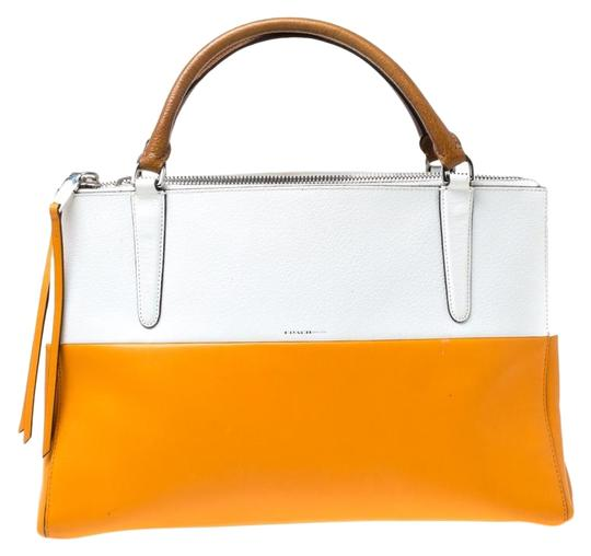 Preload https://img-static.tradesy.com/item/25957876/coach-borough-whiteorange-in-colorblock-retro-white-leather-tote-0-1-540-540.jpg